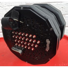 Lachenal Edeophone English Concertina. Raised wooden Ends 56 Metal Buttons