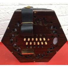 Lachenal English Concertina 48 Bone Buttons Brass Reeds Tutor Model