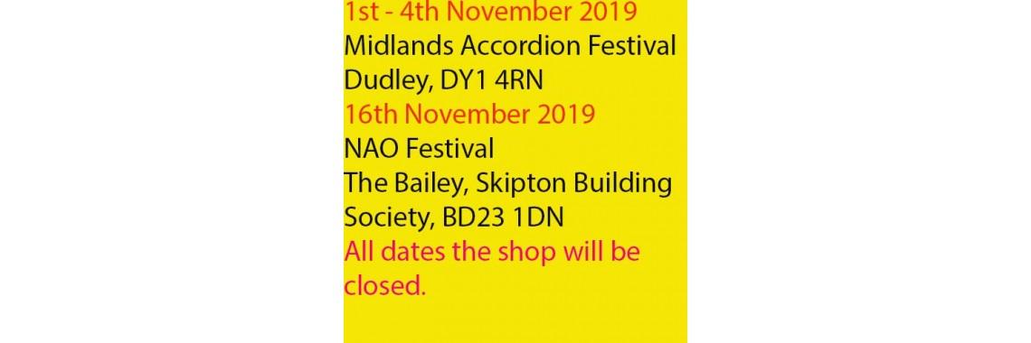 Festival dates10