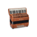 Pigini Preludio P36/3 Cherrywood Piano Accordion 3 Voice 72 Bass