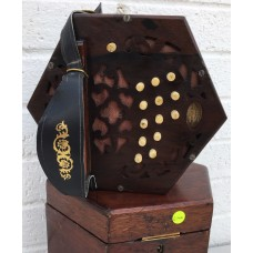 Lachenal 26 Key Anglo Concertina in CG with Steel Reeds