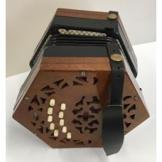 Lachenal Light Wood 20 Key Anglo Concertina in the key CG with 5 fold bellows