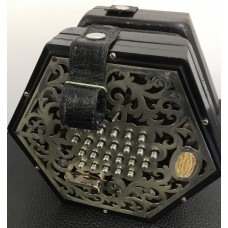 Wheatstone 48 Key English Concertina with 5 Fold Bellows and Metal Ends